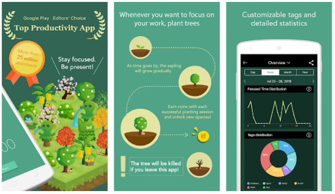 Forest Productivity app_ How to be More Efficient at Work