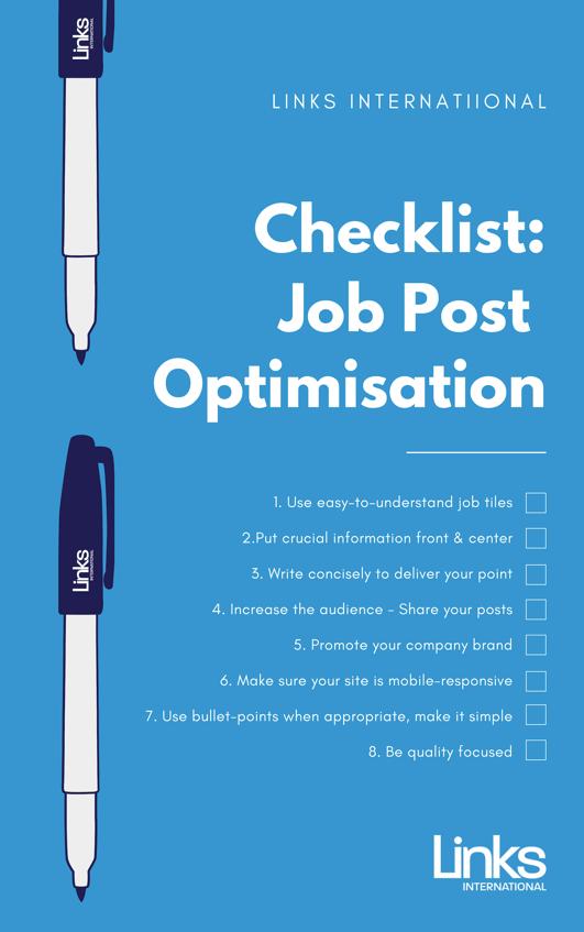 Job Post Optimisation Checklist